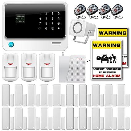Golden Security – g90b alarma inalámbrica telefónica GSM Anti Intrusion función temporización GSM GPRS SMS OLED