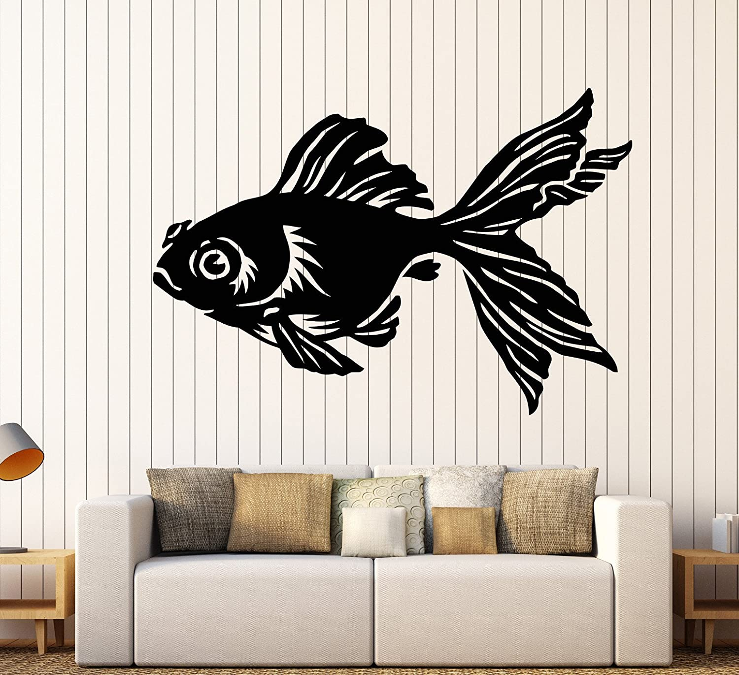 Vinyl Wall Decal Gold Chinese Fish Animal Aquarium Pet Stickers Large Decor (1086ig) Flame Red