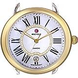 Michele Womens 16 Two-Tone, Diamond Dial Silver/Gold Watch Head