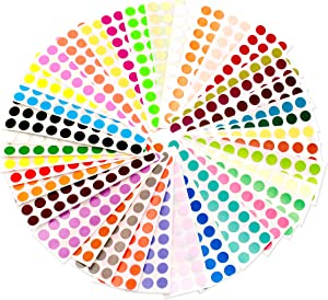 ChromaLabel 1/4 Inch Color Code Dot Stickers, 38 Assorted Colors