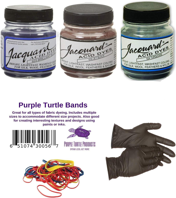 Jaquard - Juego de 3 tintes de ácido brillantes, color azul ...
