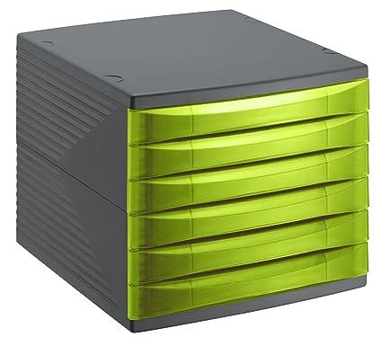 Rotho Quadra 10800MK000 Cajón archivador de oficina, poliestireno, formato A4, alta calidad,