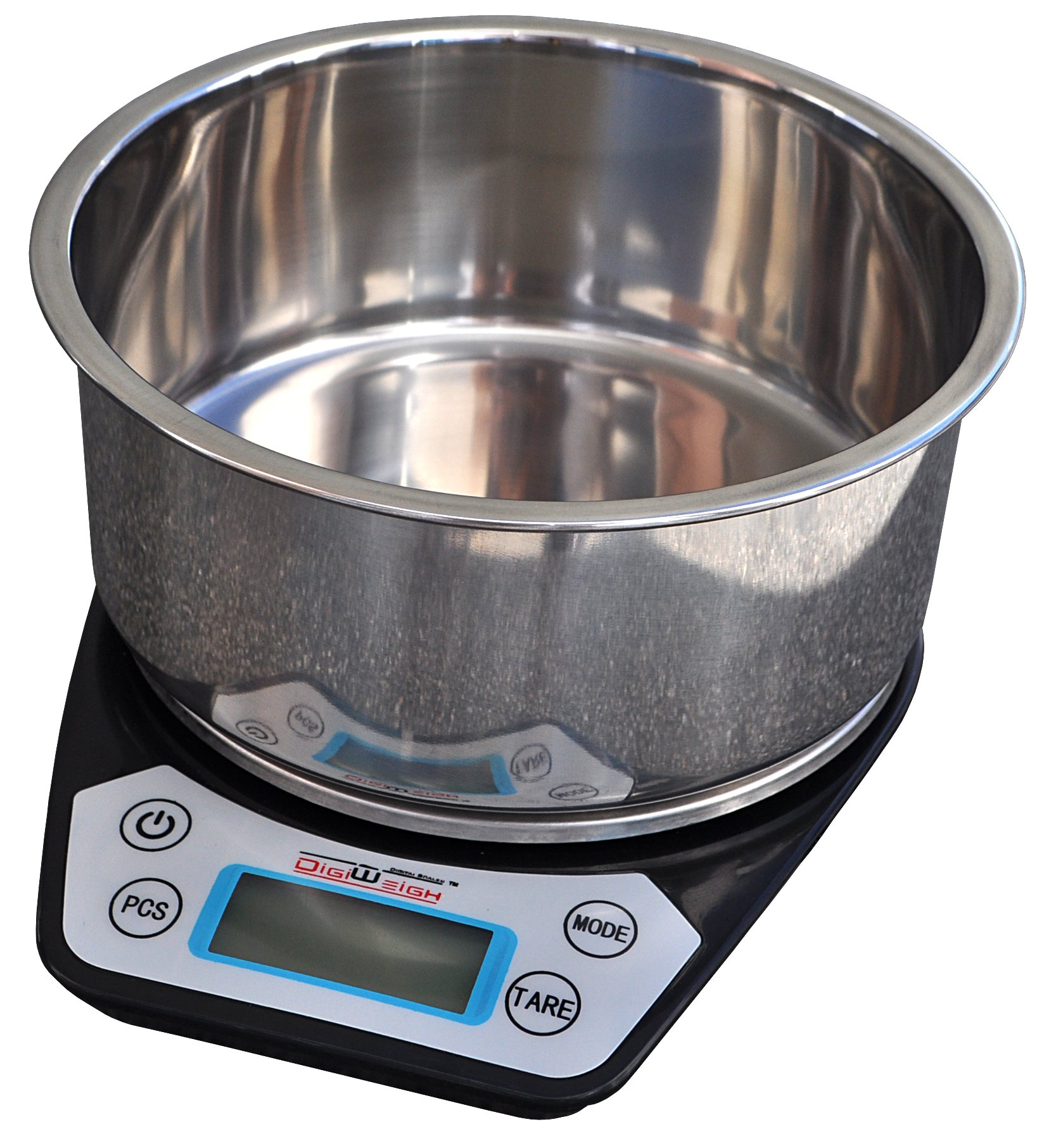 DIGIWEIGH Stainless Bowl with 0.01G Accuracy Weighing Scale (DW-86) by DigiWeigh