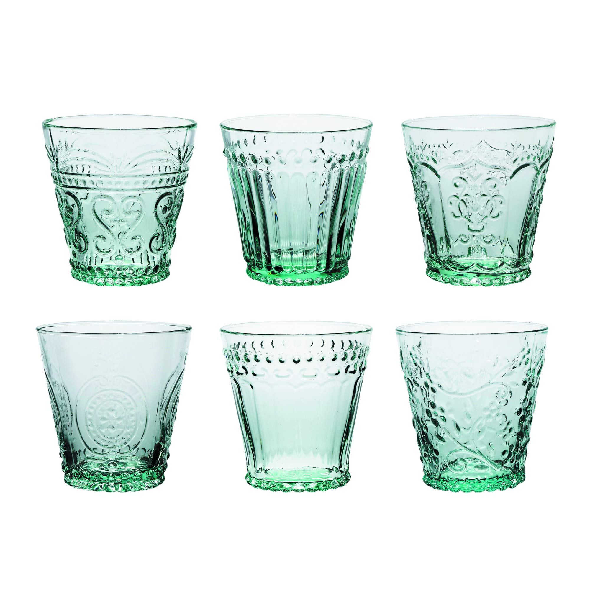 Kom Amsterdam AQ6MX Aqua Waterglass, Soda Lime Glass, 240 milliliters, Green