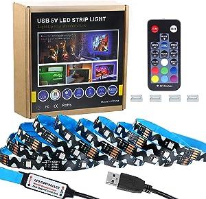 9.85ft Led Strip Lights for 40-70in TV,Amagle RGB USB Powered LED TV Backlight Kit with RF Remote,Colors Changing 5050 LEDs Bias Lighting for HDTV Back Mood Light Behind TV,Monitor,Mirror,Bedroom