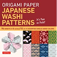 "Image for Origami Paper - Japanese Washi Patterns - 6"" - 96 Sheets: Tuttle Origami Paper: High-Quality Origami Sheets Printed with 8 Different Patterns: Instructions for 7 Projects Included"