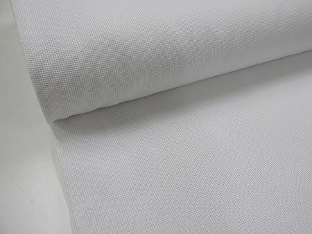 Confección Saymi Metraje 2,45 MTS. Tejido Panama Punto Cruz Blanco ...