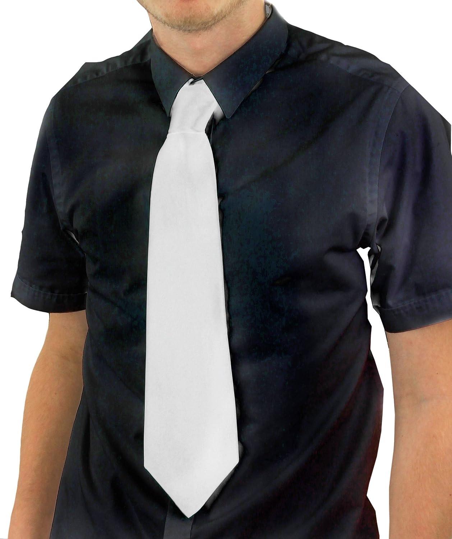 Large cravate blanche de gangster pour adulte.