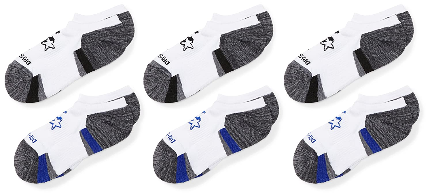 Starter boys Big Boys 6-pack Athletic No-show Socks Amazon Exclusive Black Medium (Shoe Size 4-9.5) STR111417