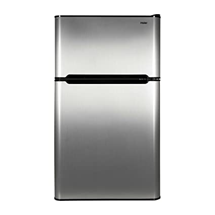 Amazon Haier 32 Cu Ft Refrigerator Stainless Steel 2 Door For