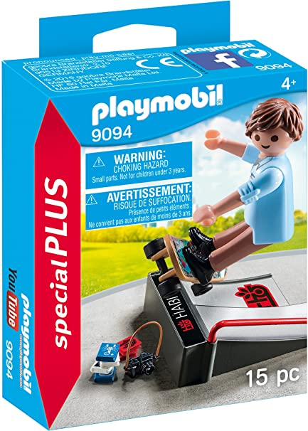 Playmobil Especiales Plus Skater con Rampa 9094
