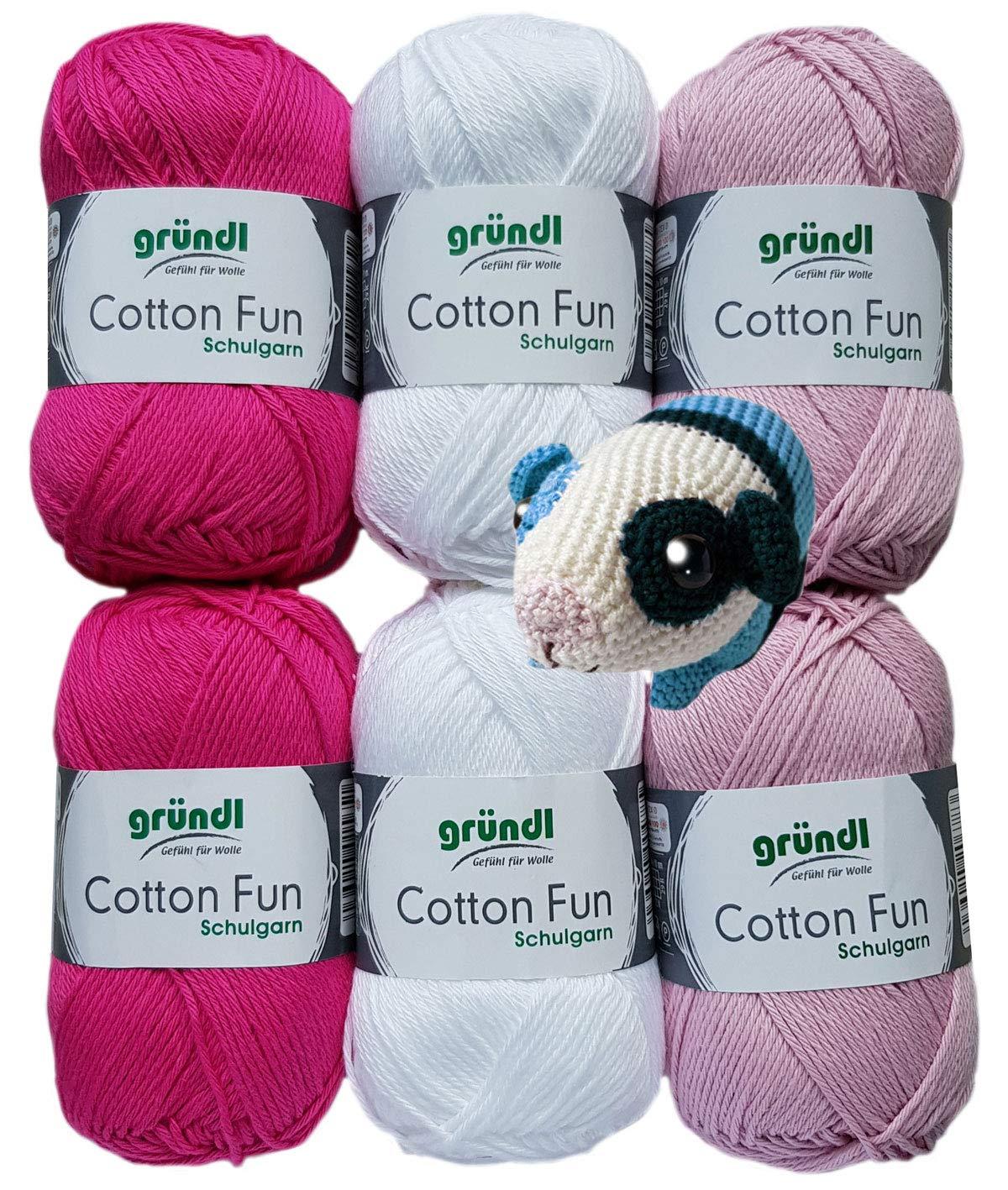 Gomitolo di Filato per Uncinetto Istruzioni Incluse Lingua Italiana Non Garantita Gr/ündl Cotton Fun