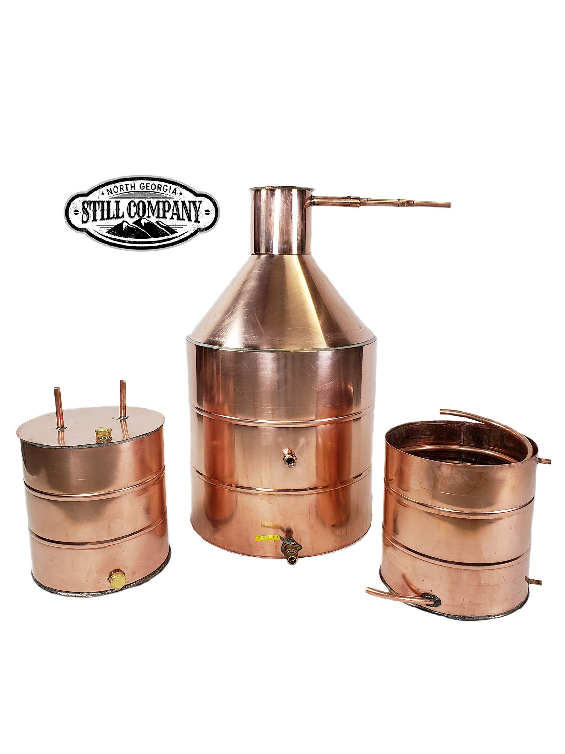 20 Gallon Copper Moonshine Whiskey & Brandy Still with Ball Valve Drain Port, 5 Gallon Worm, 5 Gallon Thumper, 1/2 OD Copper Tubing by North Georgia Still Company by North Georgia Still Company (Image #7)
