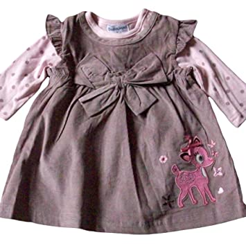 ac22e039510f 0-3 months - Baby Girls Dress Outfit - Gorgeous Brown with Pink DEER ...
