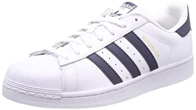 reputable site 3f573 2154f adidas Superstar, Baskets Homme, Blanc Collegiate Navy Footwear White 0, 36  2