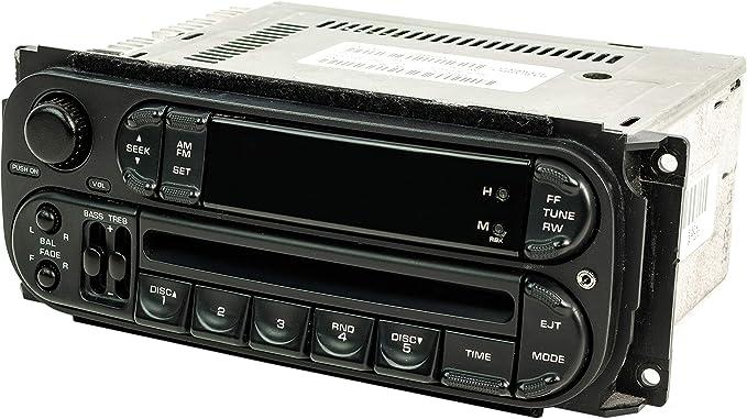 Chrysler Jeep Dodge 2002-2007 Radio OEM AM FM Single Disc CD Model RBK Slider