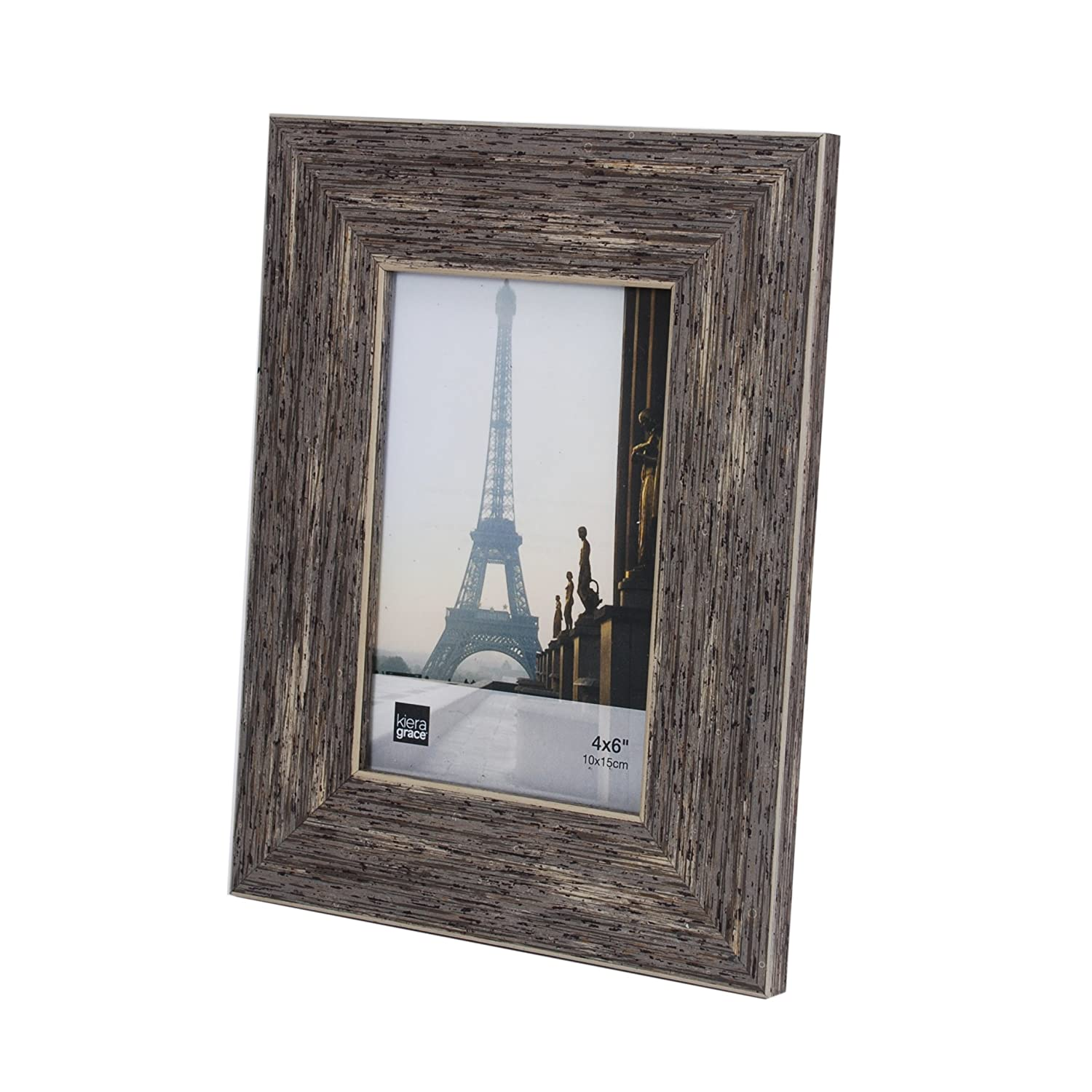 Amazon kiera grace emery picture frame 4 by 6 inch plastic amazon kiera grace emery picture frame 4 by 6 inch plastic resin weathered grey reclaimed wood veneer home kitchen jeuxipadfo Gallery