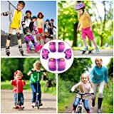 eNilecor Kids Knee Pads, Child Protective Gear Set, Toddler Knee Elbow Pads Wrist Guards for Skateboarding Inline Cycling