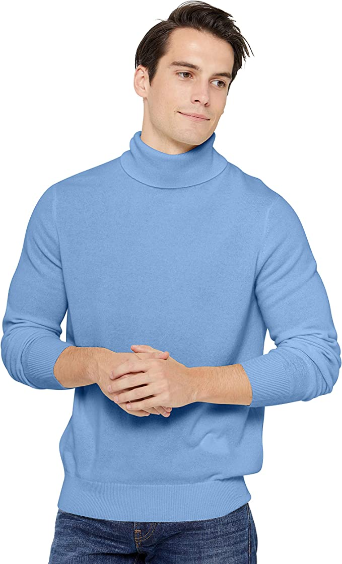 State Cashmere Men's Classic Turtleneck Sweater 100% Pure Cashmere Long Sleeve Pullover