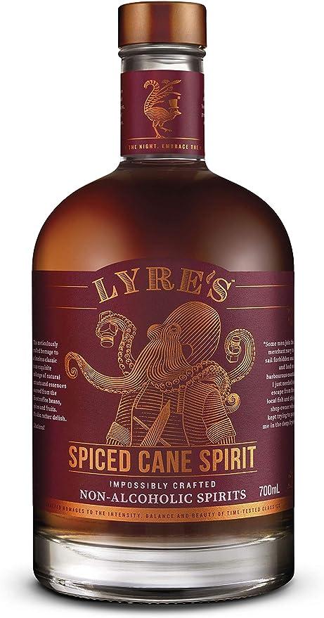 Lyres Spiced Cane - Bebida espirituosa sin alcohol - Estilo Ron con Especias | Premiado | 700ml