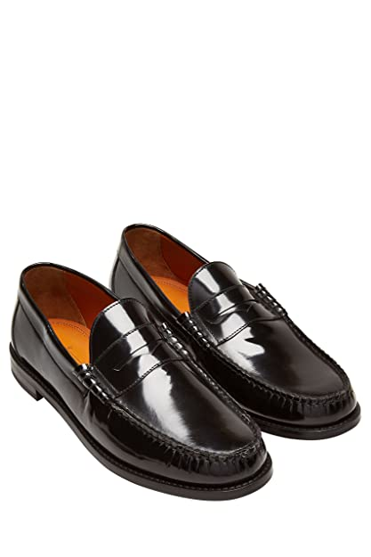 Next Hombre Mocasines Charol Corte Regular Negro EU 47: Amazon.es: Zapatos y complementos