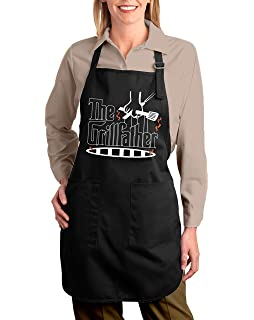 42eef1f51da Shop4Ever The Grill Father Adjustable Strap Cooking Kitchen Apron with  Pockets (Black)