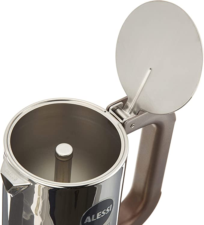 Alessi 9090/M Cafetera de Diseño de Acero Inoxidable, 10 Tazas ...