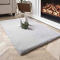 QUANHAO Faux konijnenbont tapijt, ultra zacht fluweel gebied tapijt bont stoel bank cover gebied tapijt comfortabel…