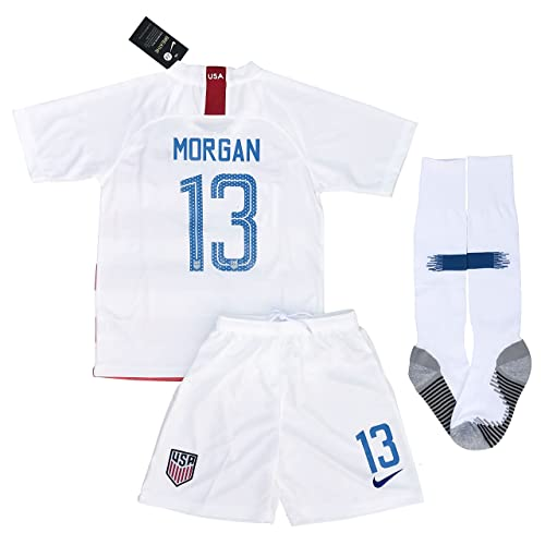 13 Morgan USA Soccer 2018/2019 Home Jersey Shorts & Socks for Kids/Youths