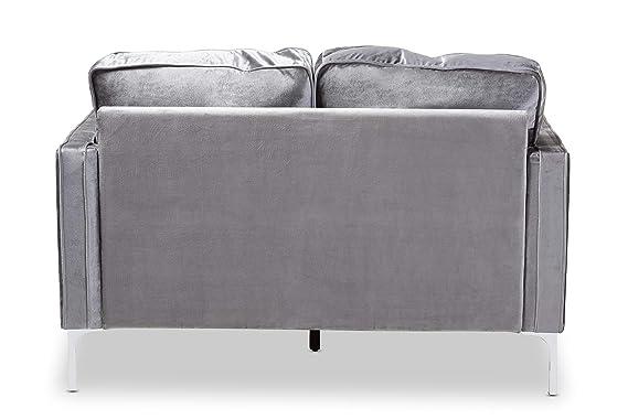 Amazon.com: Baxton Studio 150-8344-AMZ Loveseats, Grey ...