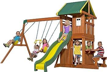 Backyard Discovery Oakmont All Cedar Wood Playset
