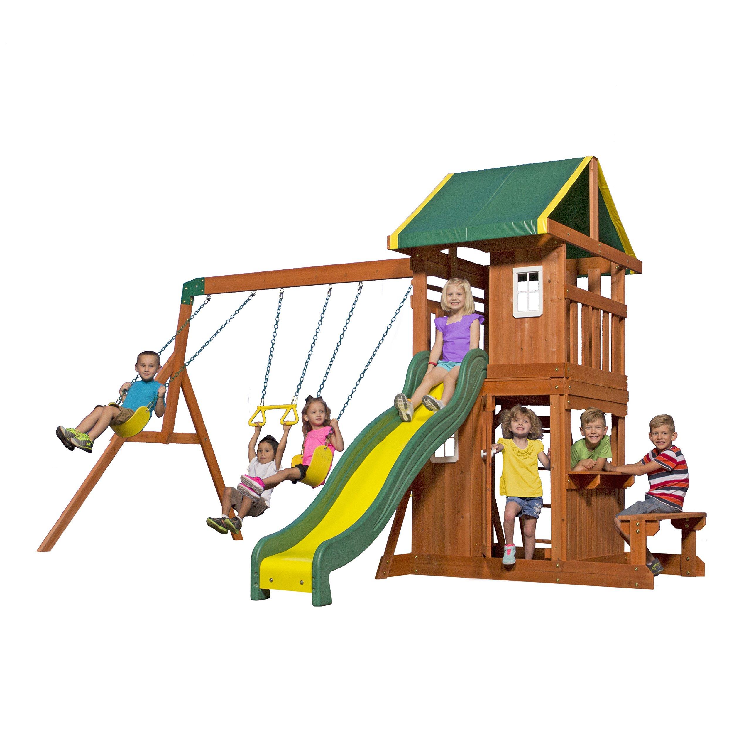 Backyard Discovery Oakmont All Cedar Wood Playset Swing Set by Backyard Discovery