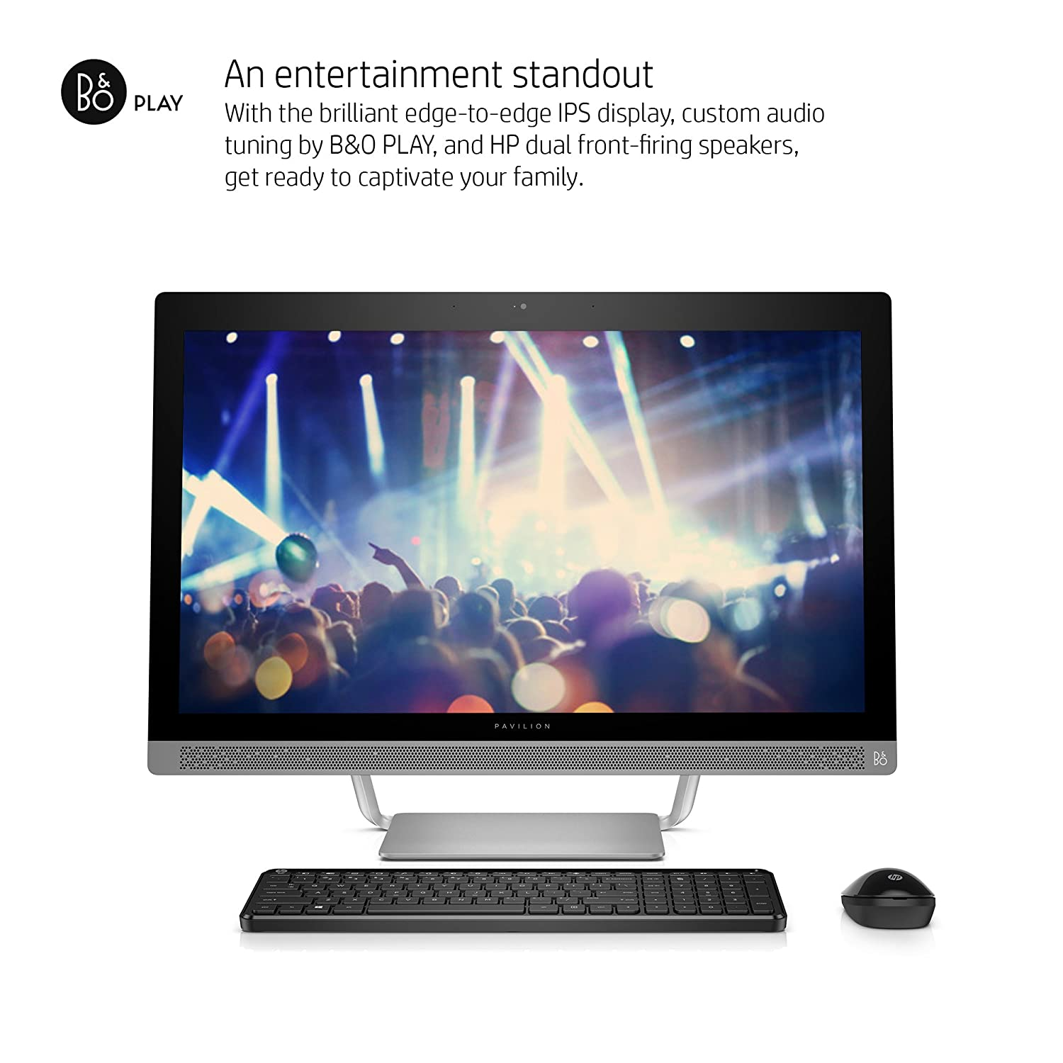 4b5b3b54b50e9 Amazon.com  HP Pavilion 27-a030 27-Inch All-In-One Desktop (Intel Core i5