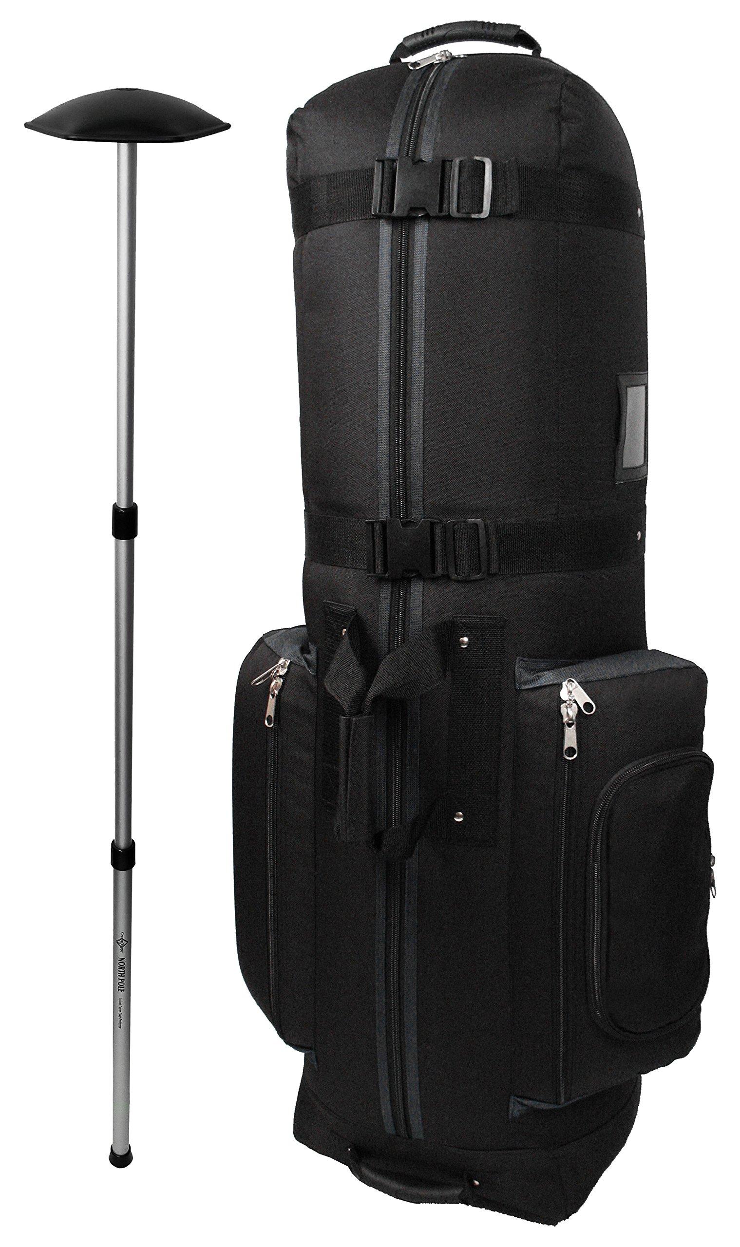 CaddyDaddy Golf CDYCON2GP Constrictor Grey with North Pole Golf Bag Travel Cover, Black/Grey by CaddyDaddy