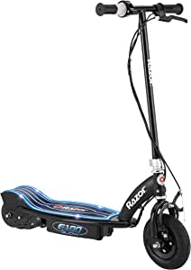 """Razor E100 Glow Electric Scooter for Kids Age 8+, LED Light-Up Deck, 8"""" Air-filled Front Tire, Up to 40 Minutes Continuous Ride Time"""