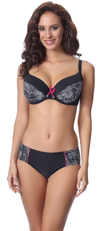 TALLA EU(Top 100 C / 48)=ES(115C/50). Merry Style Conjunto Bikini Sujetador y Bragas 2 Piezas Mujer P63602