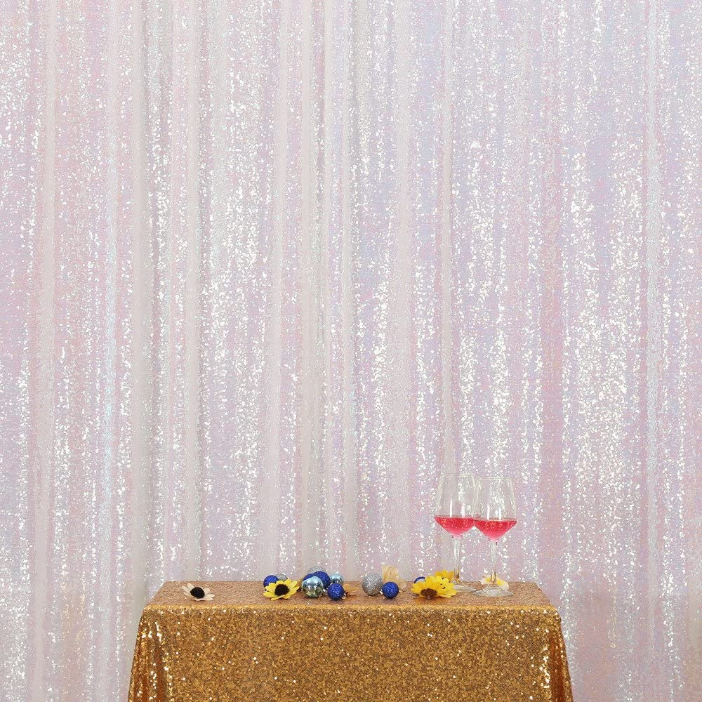 Iridescent 8FTx8FT PartyDelight Sequin Backdrop Photography and Photo Booth …