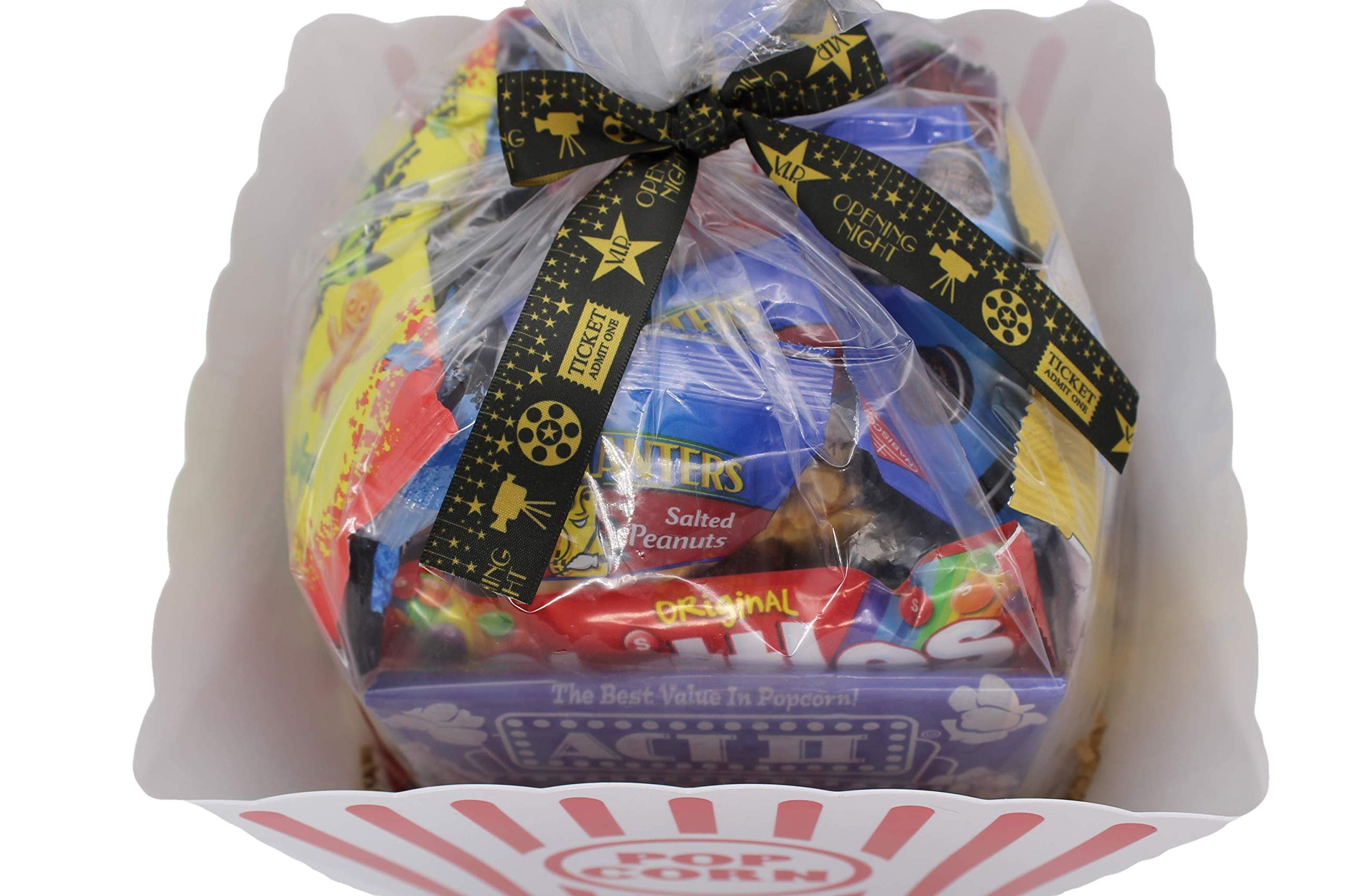 MOVIE NIGHT GIFT BASKET 30 Of Your Favorite Popcorn, Candy Cookies Crackers Perfect Birthday Box Holiday Surprised College Care Package Kids Party Family Movie Night Or A Special Date Night by Tiny Timz (Image #7)
