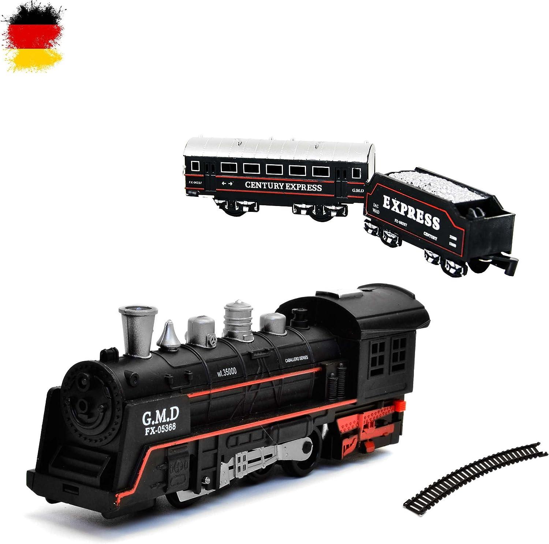 HSP Himoto - Set de Tren eléctrico (Tren de Vapor, Locomotora de Sonido, simulación de Sonido)