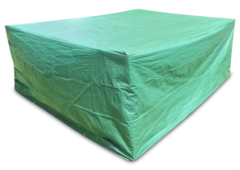 Dryzem, copertura protettiva per mobili da giardino e veranda, grande, rettangolare, in poliestere, con chiusura con cordino CAJCOM LTD