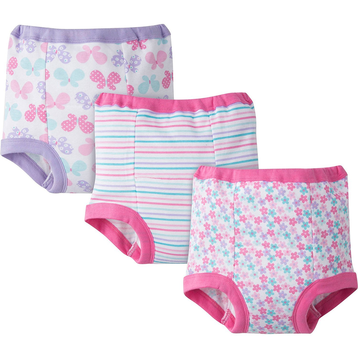 Gerber Baby Toddler Girl Training Pants,Pastels Pinks, 3-Pack