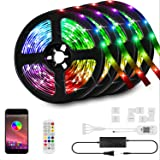 66ft/20M LED Strip Lights Kit,LED Tape Strips,RGB LED Light Strips,Sync to Music,Smart App Strip Light,Bluetooth…