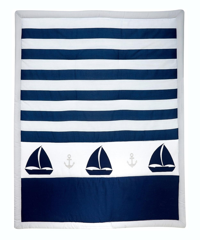Navy//Grey//White Nautica Kids Nursery Separates Comforter