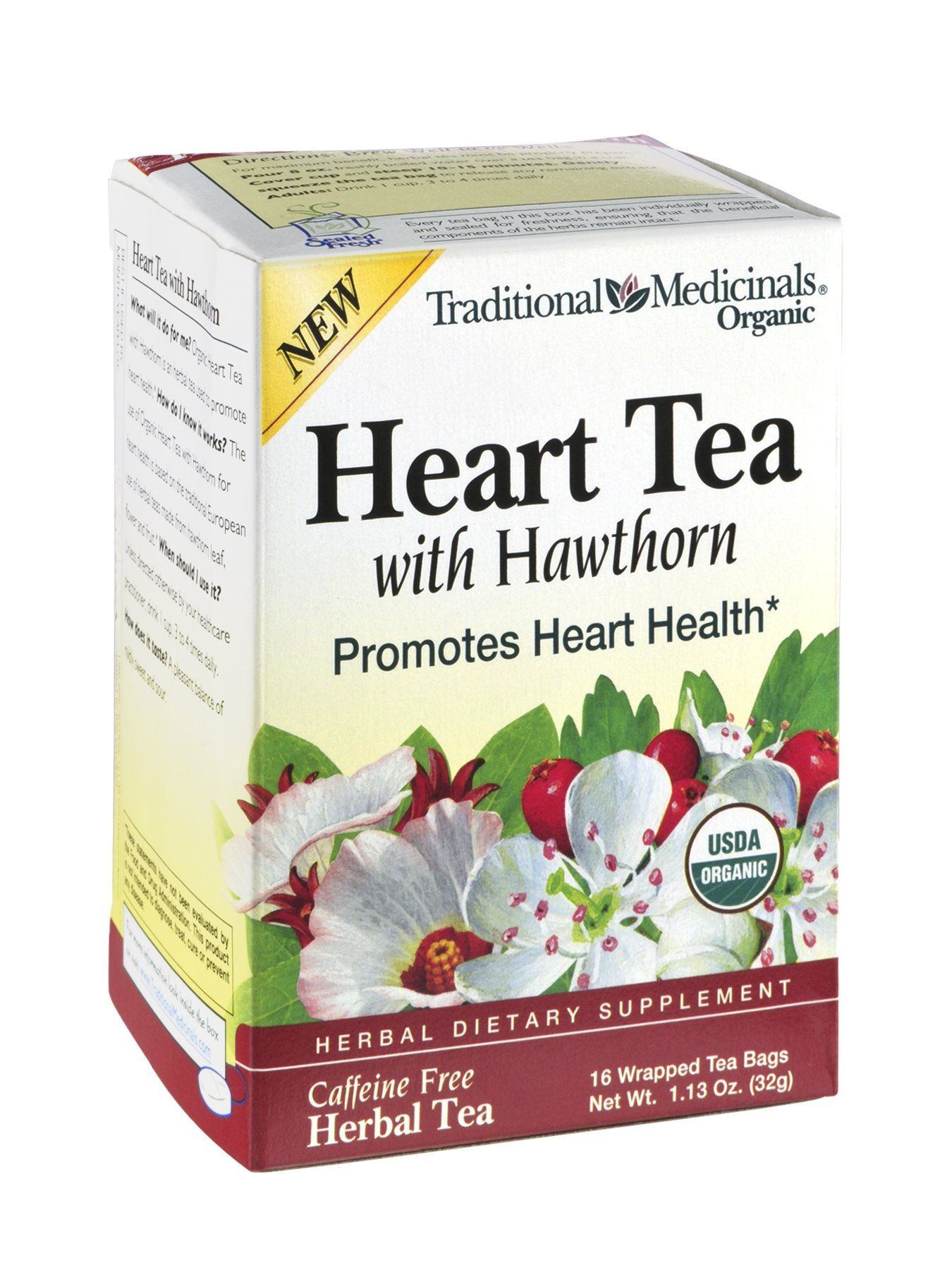 Traditional Medicinals Tea Heart W Hawthorn