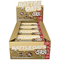 Battle Oats High Protein Gluten Free Flapjacks Protein Bar, New Low Sugar Formula, 12 x 70g - White Chocolate Coconut