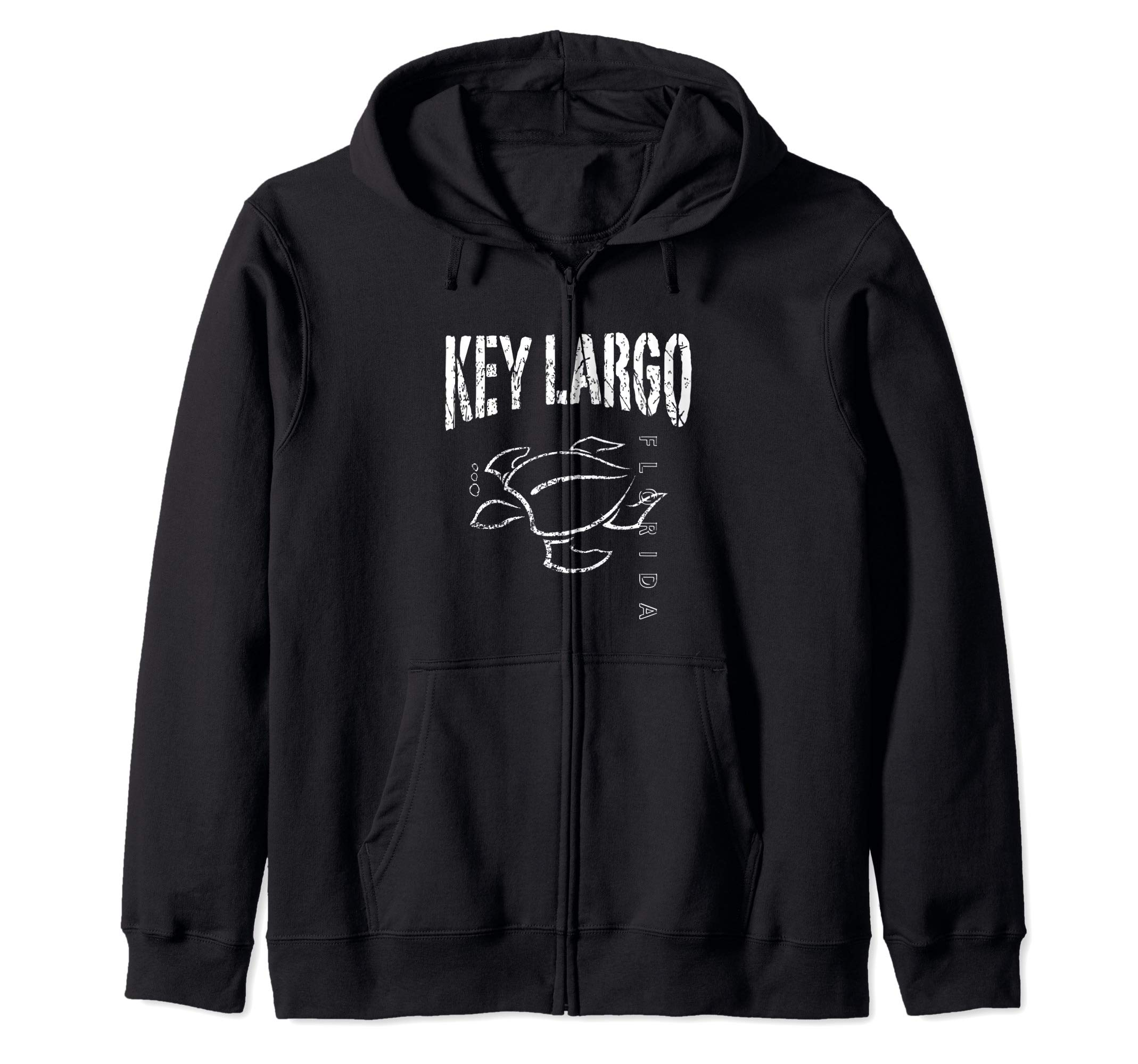 Key Largo Florida Souvenir Vacation Gift Sea Turtle Zip Hoodie by KEY LARGO Souvenir Gift Florida Sailing FL