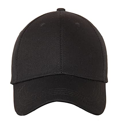 6c690812e73562 FabSeasons Solid/Plain Navy Blue Cotton Unisex Free Size with Adjustable  Buckle Baseball Summer Cap