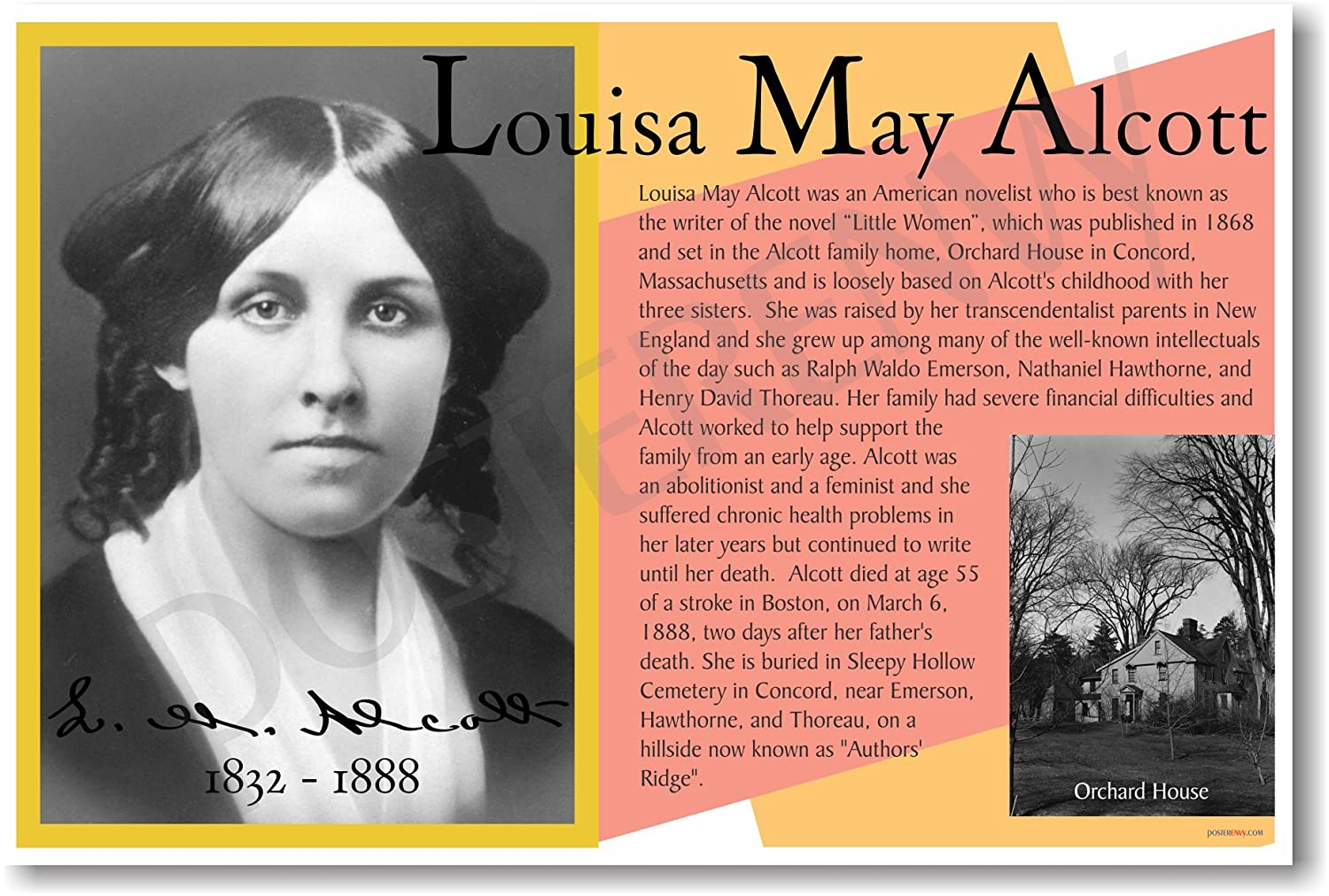 NEW Famous Author Quote POSTER Louisa May Alcott