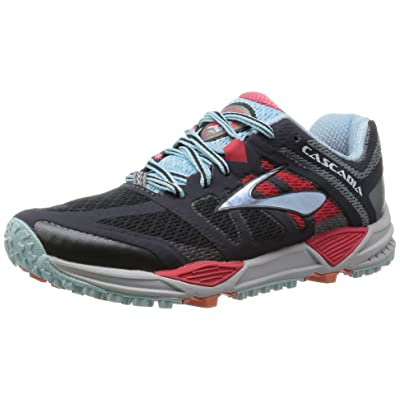 Amazon.com | Brooks Women's Cascadia 11 Trail Running Shoes Anthracite/Hibiscus/Crystal Blu Size 6.5 M US | Running