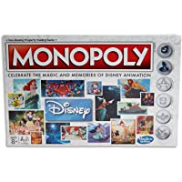 MONOPOLY - Disney Animation Edition - Snow White, Fantasia, Alladin ++ Family Board Games - Kids Toys - Ages 8+